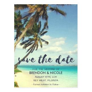Postal Reserva tropical del boda de playa de la brisa la