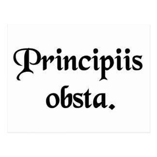 Postal Resista los principios