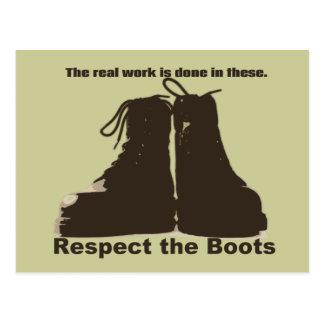 Postal Respete las botas: ¡Qué trabajadores REALES