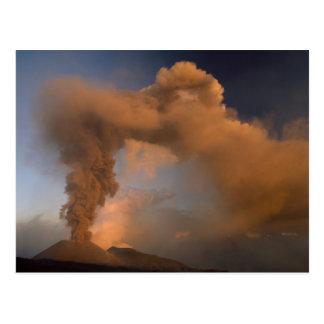 Postal Respiradero de la cumbre del monte Etna, Sicilia,