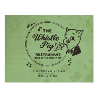 Postal Restaurante del cerdo del silbido