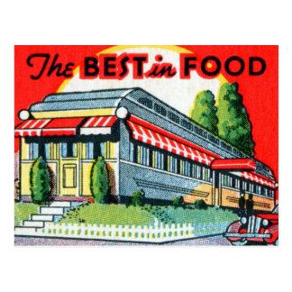 Postal Restaurante retro del kitsch del vintage mejor de