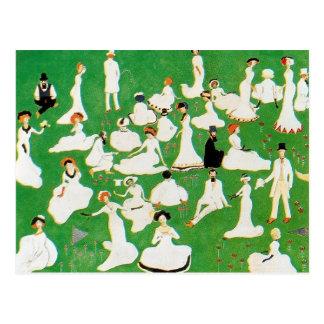 Postal Resto de Kazimir Malevich-. Sociedad en sombreros
