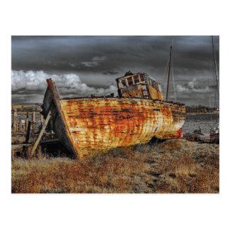Postal Restos viejos del barco de la nave