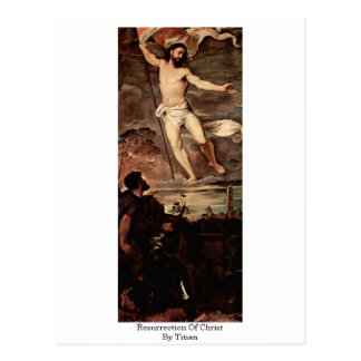 Postal Resurrección de Cristo por Titian