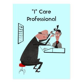 "Postal retra """" cuido al optometrista profesional"