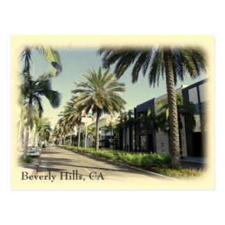 ¡Postal retra de Beverly Hills del estilo! Postal