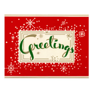 Postal retra de los saludos del navidad de la