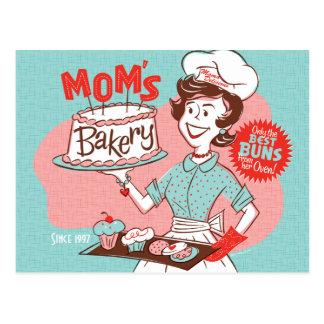 Postal retra del día de madre de la panadería de