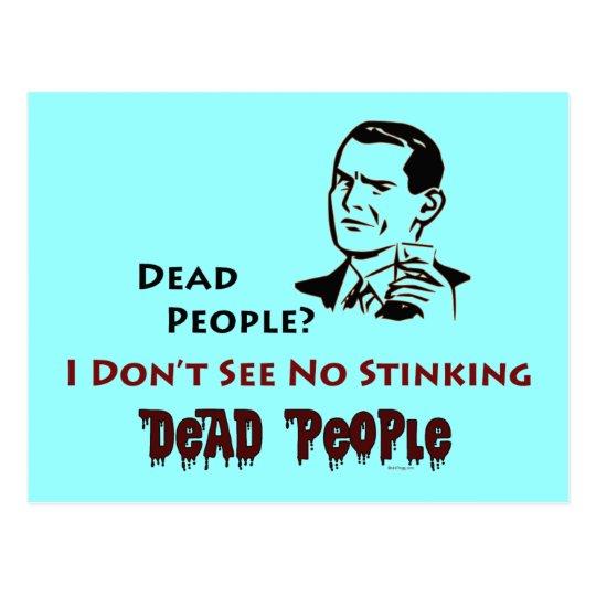 Postal retra del humor de la gente muerta que
