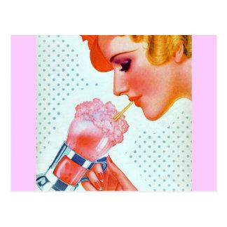 Postal retra del Milkshake de los años 30