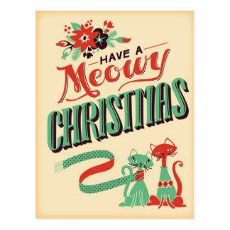 Postal retra del navidad del vintage