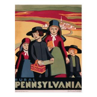 Postal retra Pennsylvania los E.E.U.U. del viaje