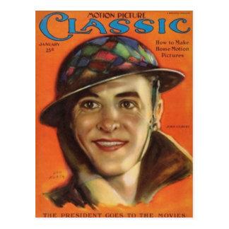 Postal Retrato 1926 del vintage de Juan Gilbert