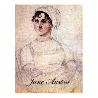 Postal Retrato antiguo de Jane Austen
