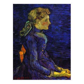 Postal Retrato de Adelina Ravoux, bella arte de Van Gogh