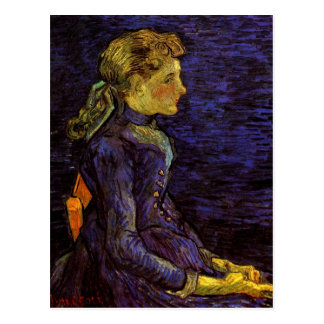 Postal Retrato de Adelina Ravoux de Vincent van Gogh