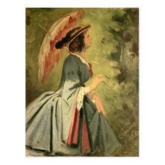 Postal Retrato de Ana, la hija del artista, 1860