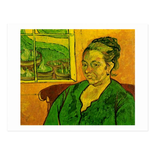 Postal Retrato de Augustine Roulin, bella arte de Van