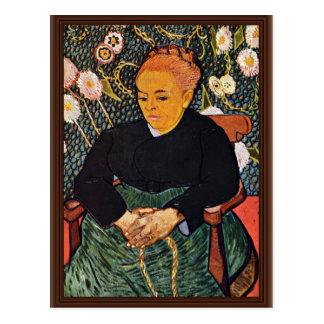 Postal Retrato de Augustine Roulin (La Berceuse)