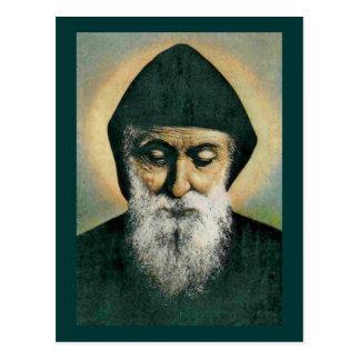 Postal Retrato de Charbel del santo