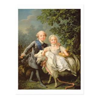 Postal Retrato de Charles Felipe de Francia (1757-1836)