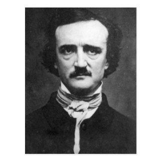 Postal Retrato de Edgar Allan Poe del vintage