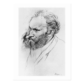Postal Retrato de Edgar Degas el | de Eduardo Manet