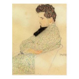 Postal Retrato de Egon Schiele- de Arturo Lowenstein