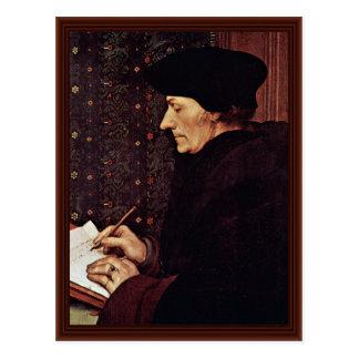 Postal Retrato de Erasmus de Rotterdam