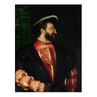 Postal Retrato de Francisco I 1538