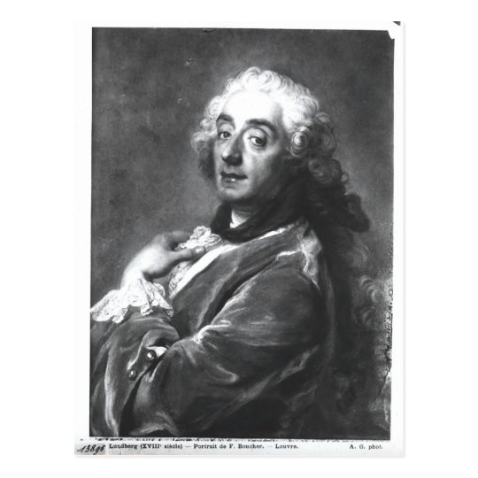 Postal Retrato de Francois Boucher 1741