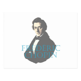 Postal Retrato de Frédéric Chopin