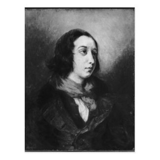 Postal Retrato de George Sand, 1838