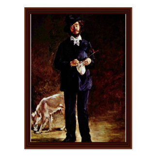 Postal Retrato de Gilbert-Marcelino Desboutin