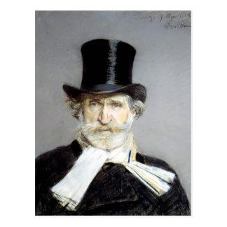 Postal Retrato de Giuseppe Verdi de Juan Boldini