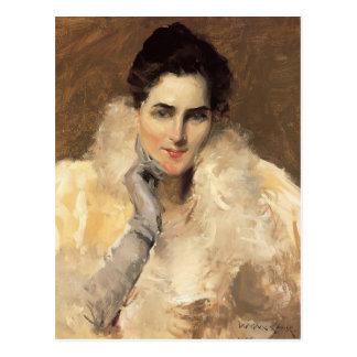Postal Retrato de Gustavo Klimt- de una señora