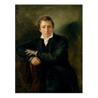 Postal Retrato de Heinrich Heine 1831