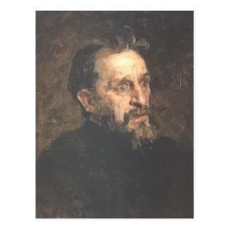 Postal Retrato de Ilya Repin- del pintor Grigory