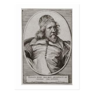 Postal Retrato de Inigo Jones (1573-1652) grabado cerca