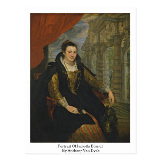 Postal Retrato de Isabel Brandt de Anthony Van Dyck