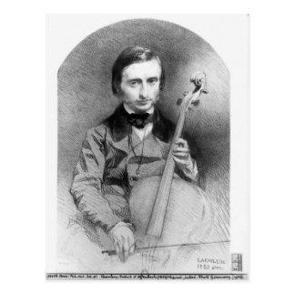 Postal Retrato de Jacques Offenbach 1850