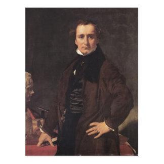 Postal Retrato de Jean Ingres- del escultor Lorenzo