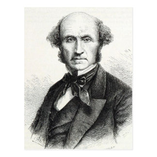 Postal Retrato de John Stuart Mill