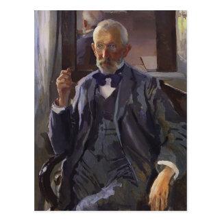 Postal Retrato de Konstantin Somov- de A. Somov