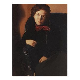 Postal Retrato de Konstantin Somov- de Ana Lebedeva