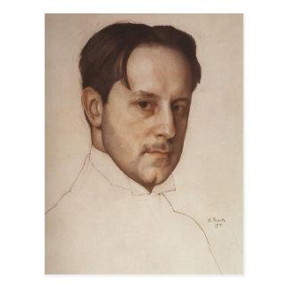 Postal Retrato de Konstantin Somov- de M. Dobuzhinsky