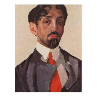 Postal Retrato de Konstantin Somov- de Mikhail Kuzmin
