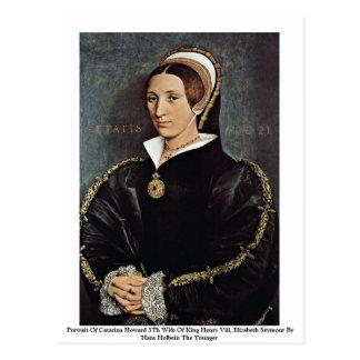 Postal Retrato de la 5ta esposa de Catalina Howard de rey