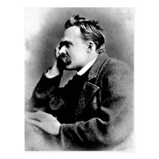 Postal Retrato de la descripción de Friedrich Nietzsche,